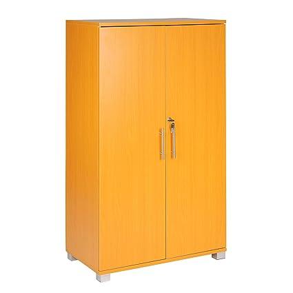 Armario archivador para oficinas, con cerradura, 3 estantes de almacenamiento, de 2 puertas