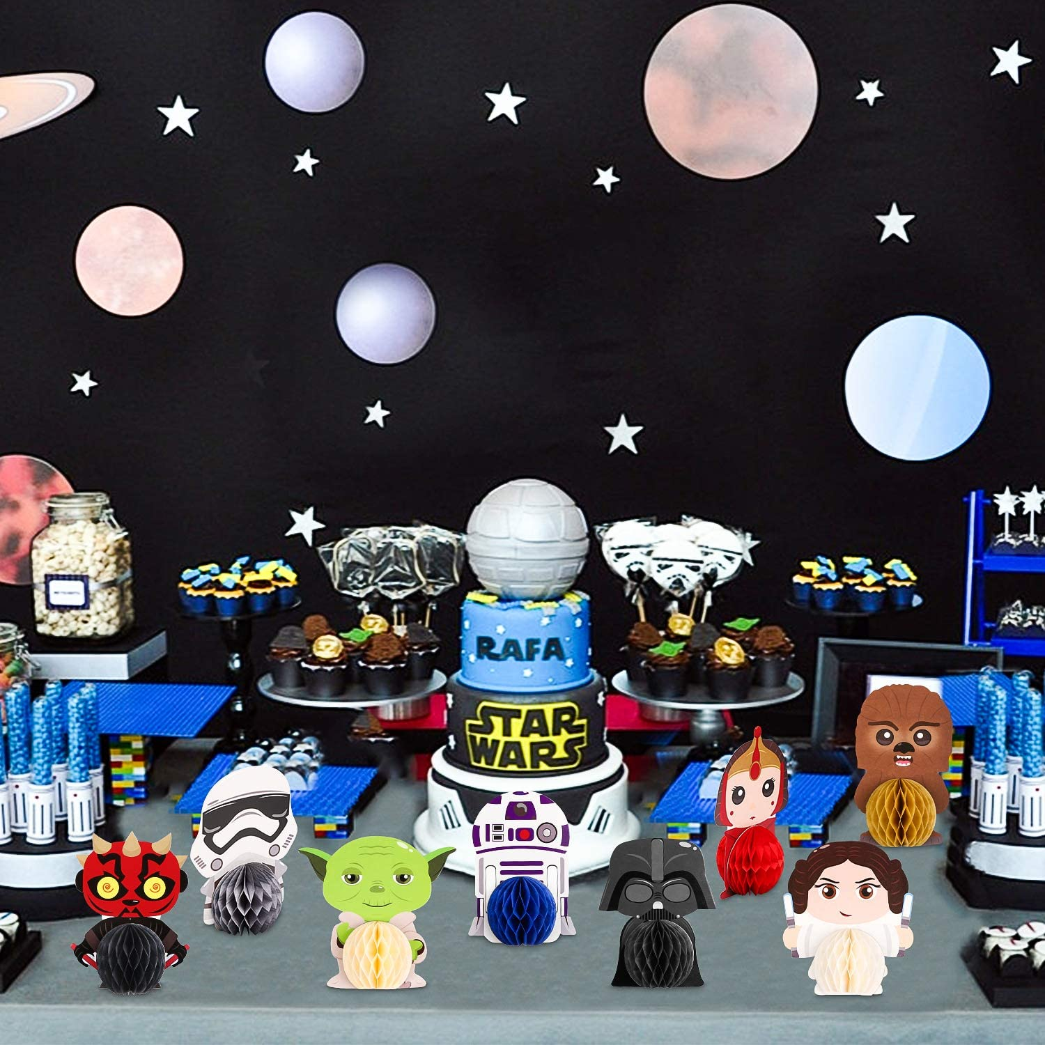 Party Supplies Mallmall6 12pcs Space Wars Honeycomb Centerpieces Planet War Party Table Decorations Universe Superhero Birthday Party Supplies Video Games Themed Party Favors Galaxy Hero Room Decoration For Kids Toys Games