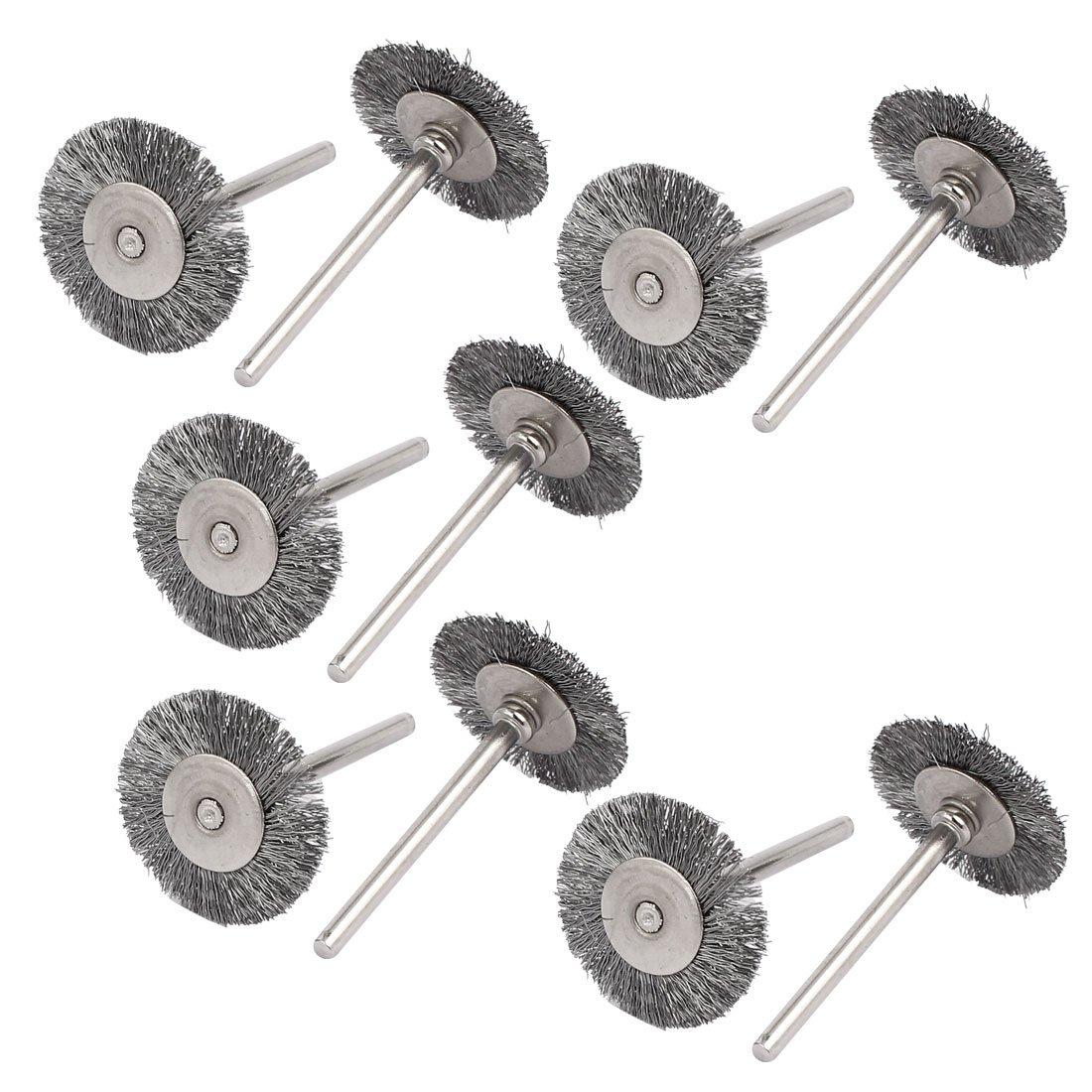 sourcingmap® Steel Wire Wheel Brush Polishing Rotary Tool 25mm Dia 10pcs US-SA-AJD-186590