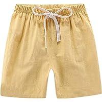 Amuse-MIUMIU Verano Niños Niños Casual Pantalones Cortos De Lino Elástica Cintura Pantalones