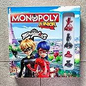 Winning Moves Monopoly Junior Miraculous Tavolo, Colore Gioco di società per Bambini, WIN45601