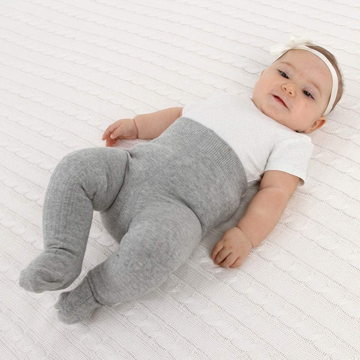 Jungen Baby-Strumpfhosen f/ür Kleinkinder 0-4 Jahre 3er-Pack Leggings f/ür Kleinkinder M/ädchen gestrickte Baumwolle