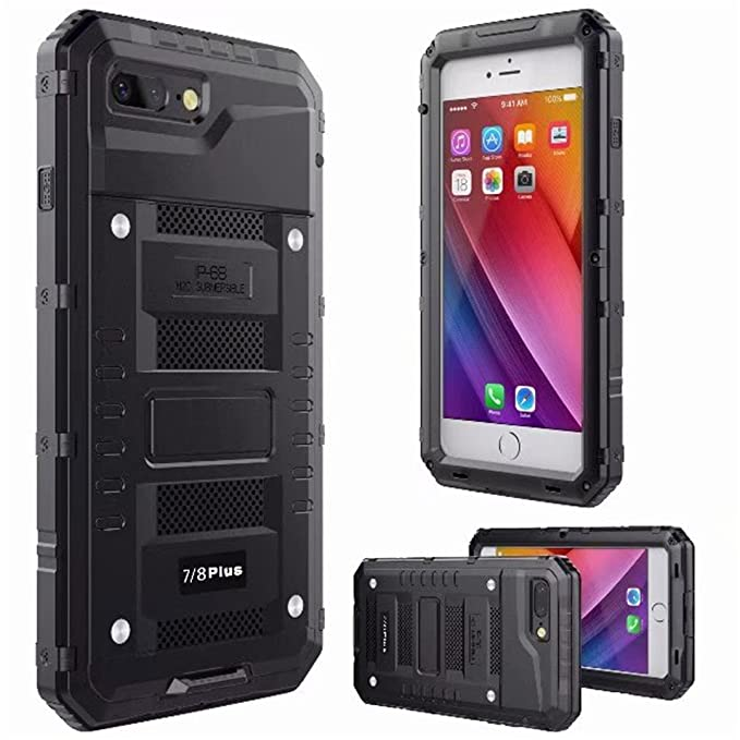 hot sales 57769 992b7 iPhone 8 Plus Case,7 Plus Waterproof Case, Yego Outdoor Full Sealed  Underwater Military Grade Defender Cases for Apple iPhone 7 Plus/8  Plus/7+/8+ 5.5 ...