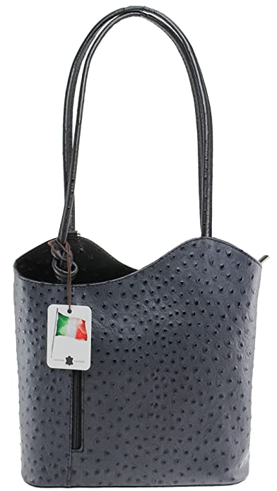 Chicca 3005 Bolsos Bolsa de hombro, 30 cm, gris con mango negro: Amazon.es: Zapatos y complementos