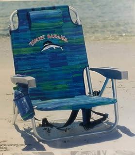 Tommy Bahama enfriador de mochila silla con bolsa de almacenamiento y toallero de barra estilo AZUL