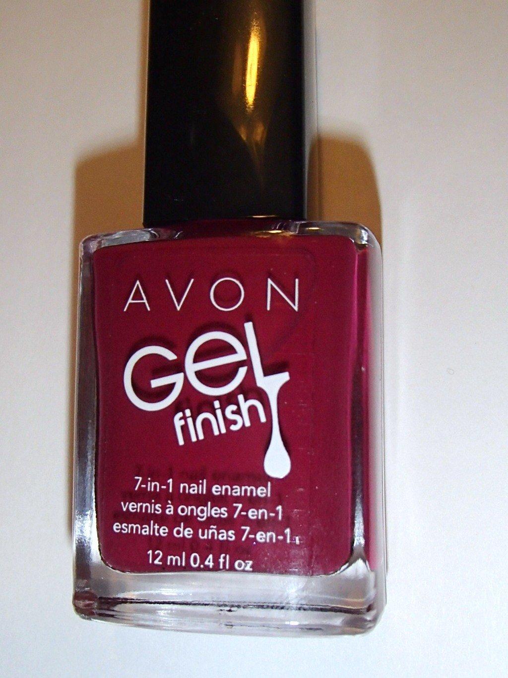 Amazon.com : Avon Nail Enamel Polish Gel Finish Very Berry ...
