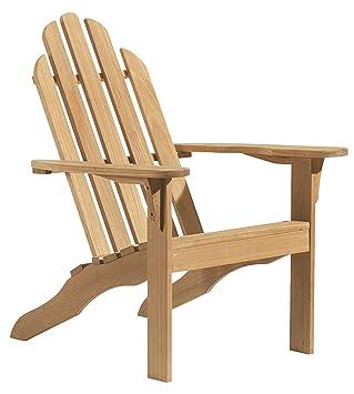 Amazoncom Oxford Garden Shorea Adirondack Chair Teak