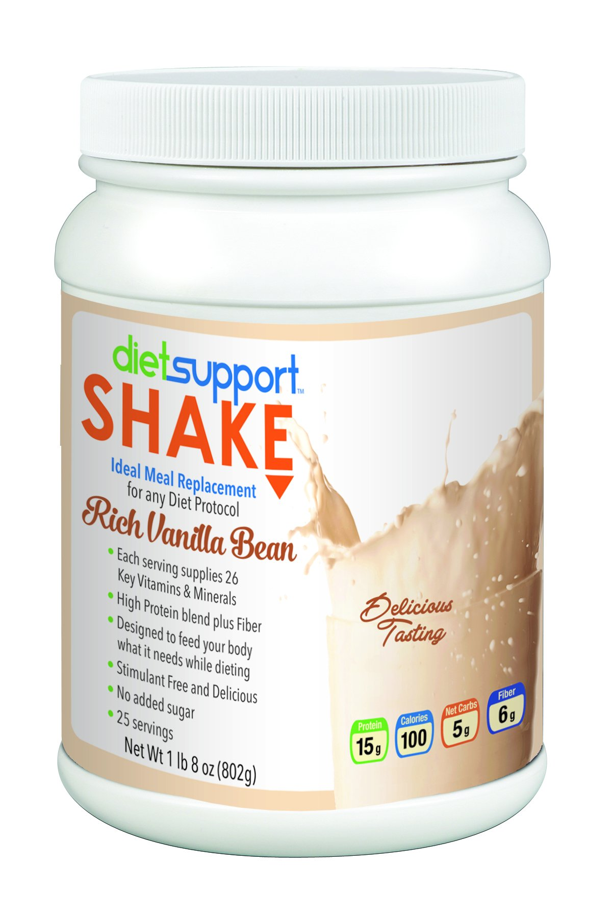 Diet Support Meal Replacement Shake - Rich Vanilla Bean