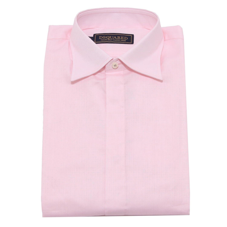 4874W Camicia uomo Dsquared Tailor Dean Classic Pink Shirt Men [46 ...