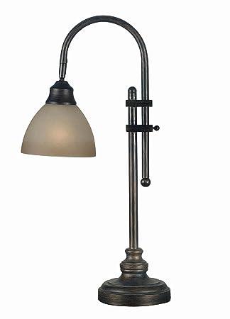 Kenroy Home 20994BH Callahan Desk Lamp, Bronze Heritage