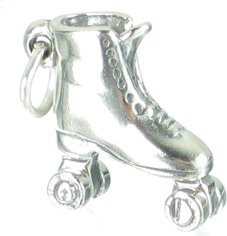 925 Sterling Silver Roller Skate Charm