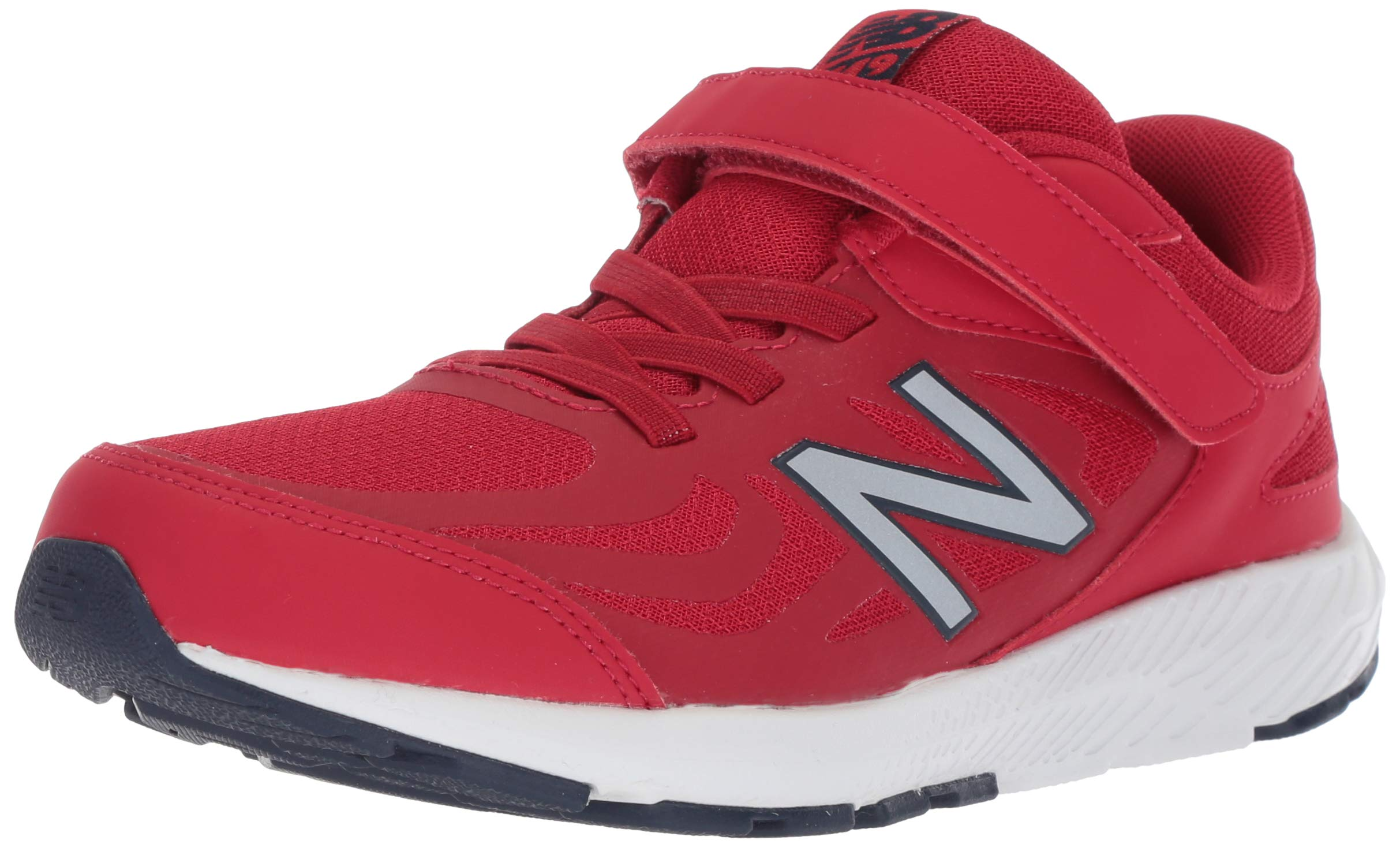 New Balance Boys' 519v1 Hook and Loop Running Shoe, Chili Pepper/Nubuck Scarlet, 2 M US Infant