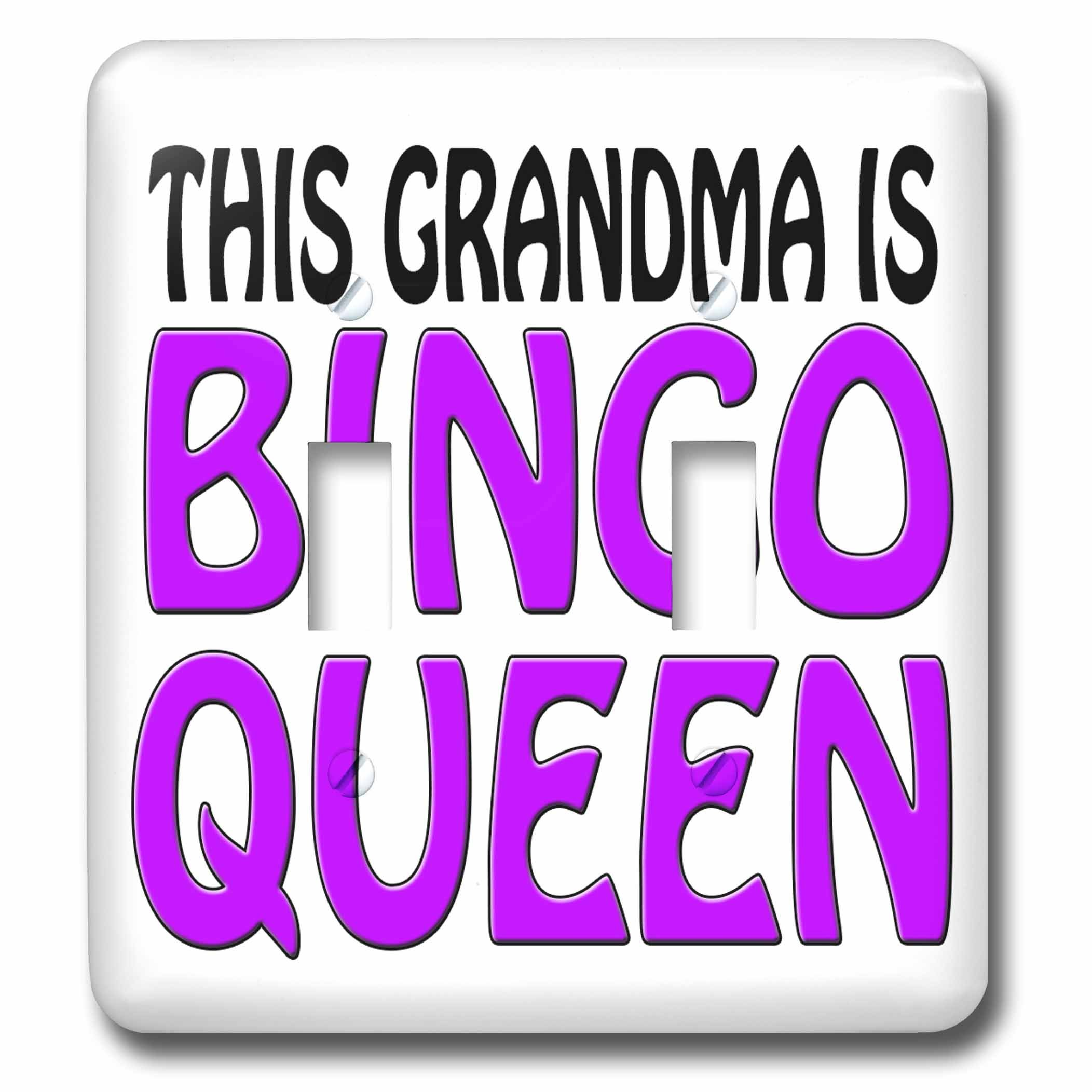 3dRose lsp_149773_2 This Grandma Is Bingo Queen Purple Double Toggle Switch by 3dRose