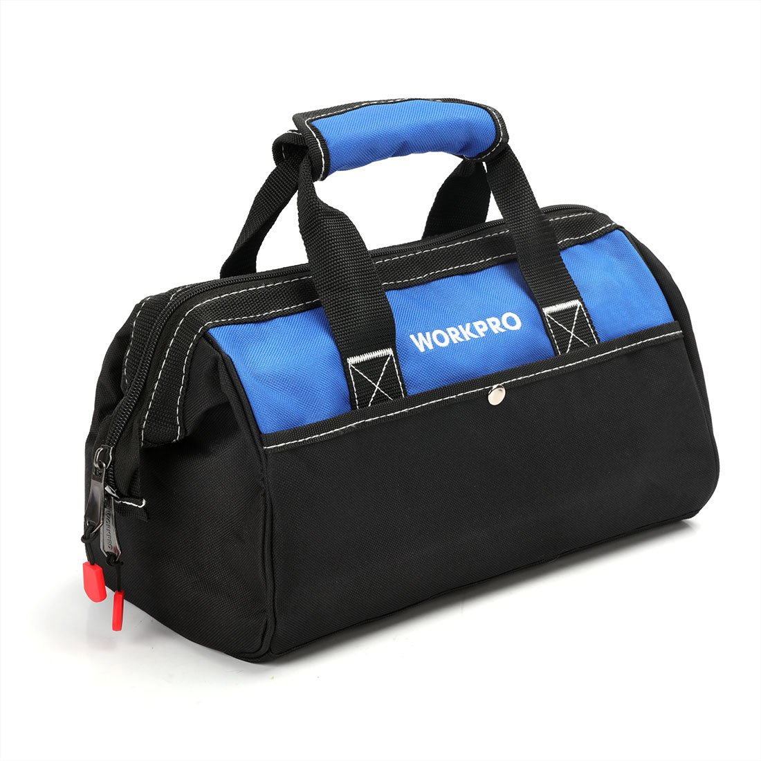 WORKPRO 13-inch Tool Bag, Wide Mouth Tool Tote Bag with Inside Pockets for Tool Storage by WORKPRO