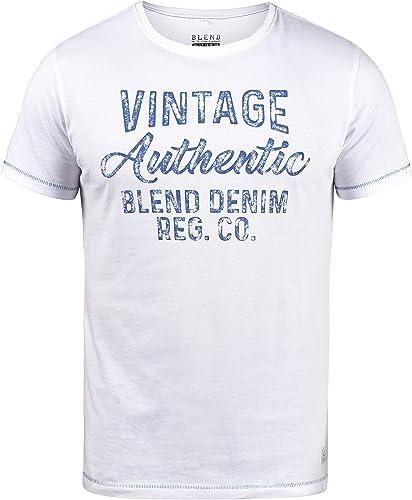 BLEND Florenz Camiseta Básica De Manga Corta con Estampado para Hombre con con Cuello Redondo con Gráfico: Amazon.es: Ropa y accesorios