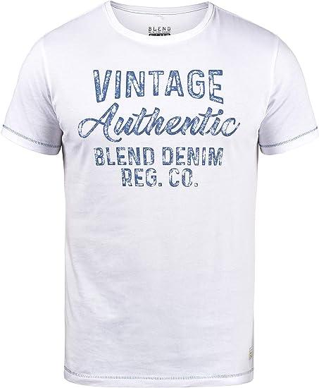 BLEND Florenz Camiseta Básica De Manga Corta con Estampado para ...