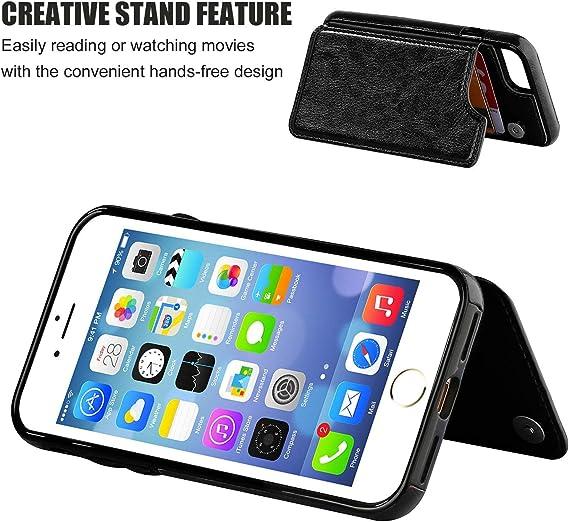 Suhctup Compatibile per iPhone SE 2020, Custodia iPhone 7 / iPhone 8 Pelle, Cover iPhone 7 con Interno Morbida TPU,Porta Carte Slot e Antiurto Flip ...