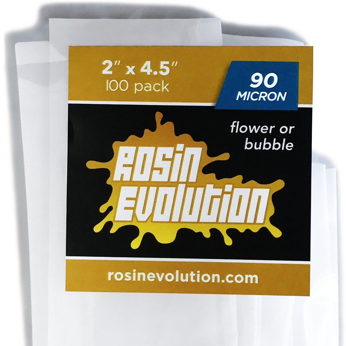 Rosin Evolution Press Bags - 90 micron screens (2'' x 4.5'') - 100 pack by Rosin Evolution