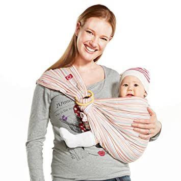 76da6bf4a3c Amazon.com   Mamaway Ring Sling Baby Wrap Carrier for Infant ...