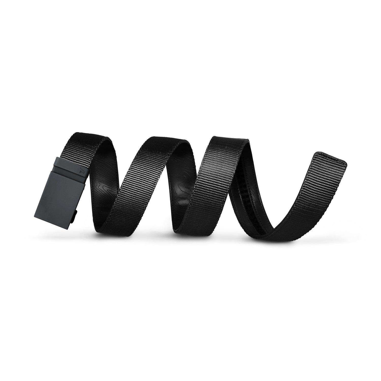 Mission Belt Men's Ratchet Belt - Stealth - Matte Gray Buckle/Black Nylon Strap, Custom (up to 56)