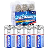 ACDelco 12-Count C Batteries, Maximum Power Super Alkaline Battery, 7- Year Shelf Life, Recloseable Packaging