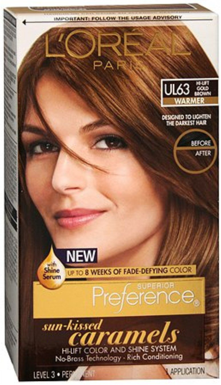 L'Oreal Superior Preference Preference Sun-Kissed Caramels, UL63 Hi-Lift Gold Brown 1 ea (Pack of 12)