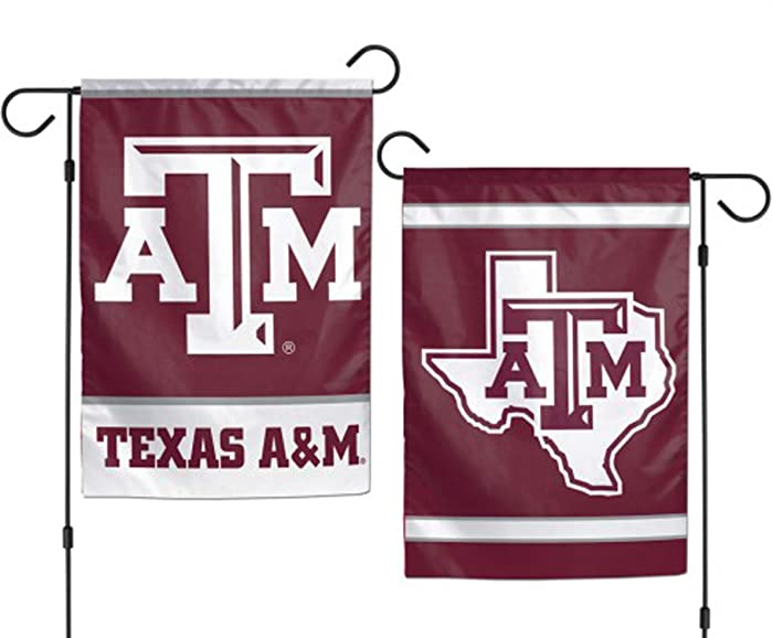 WinCraft NCAA Texas A&M University Aggies 12x18 Inch 2-Sided Outdoor Garden Flag Banner