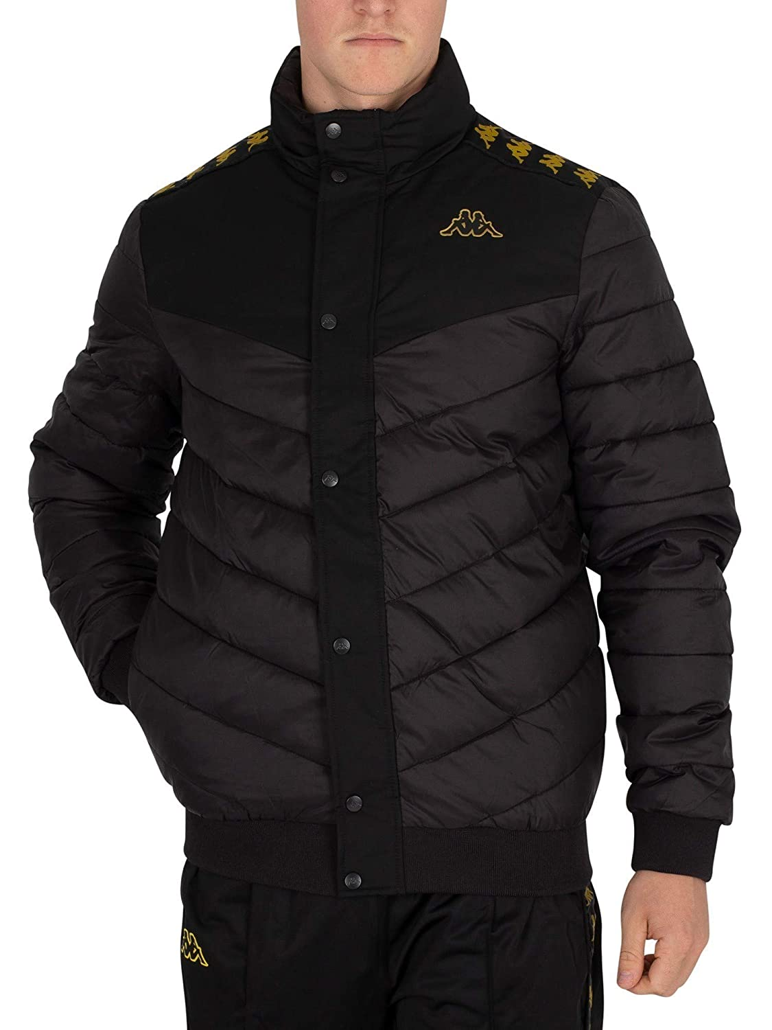 Kappa Men's Aobi Jacket, Black Kappa Men' s Aobi Jacket
