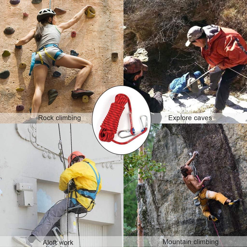 ewinever 10m estático Roca Cuerda Senderismo 12mm Cuerda de Seguridad Escalada
