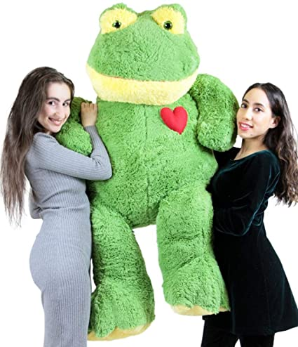 Amazon Com Giant Stuffed Frog 60 Inch Soft 5 Foot Plush Animal