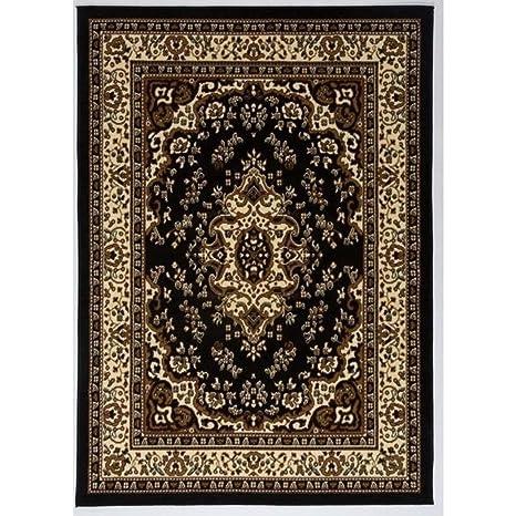 Amazon Com 5 X 7 King Oriental Black Beige Multi Color Area Rug