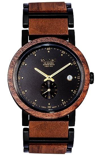TENSE//La Madera Reloj – Hudson Hybrid de nogal. – Esfera Negra –
