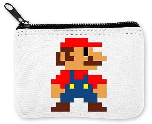 Pixel Super Mario Münzen Reißverschluss Geldbörse Amazonde Koffer