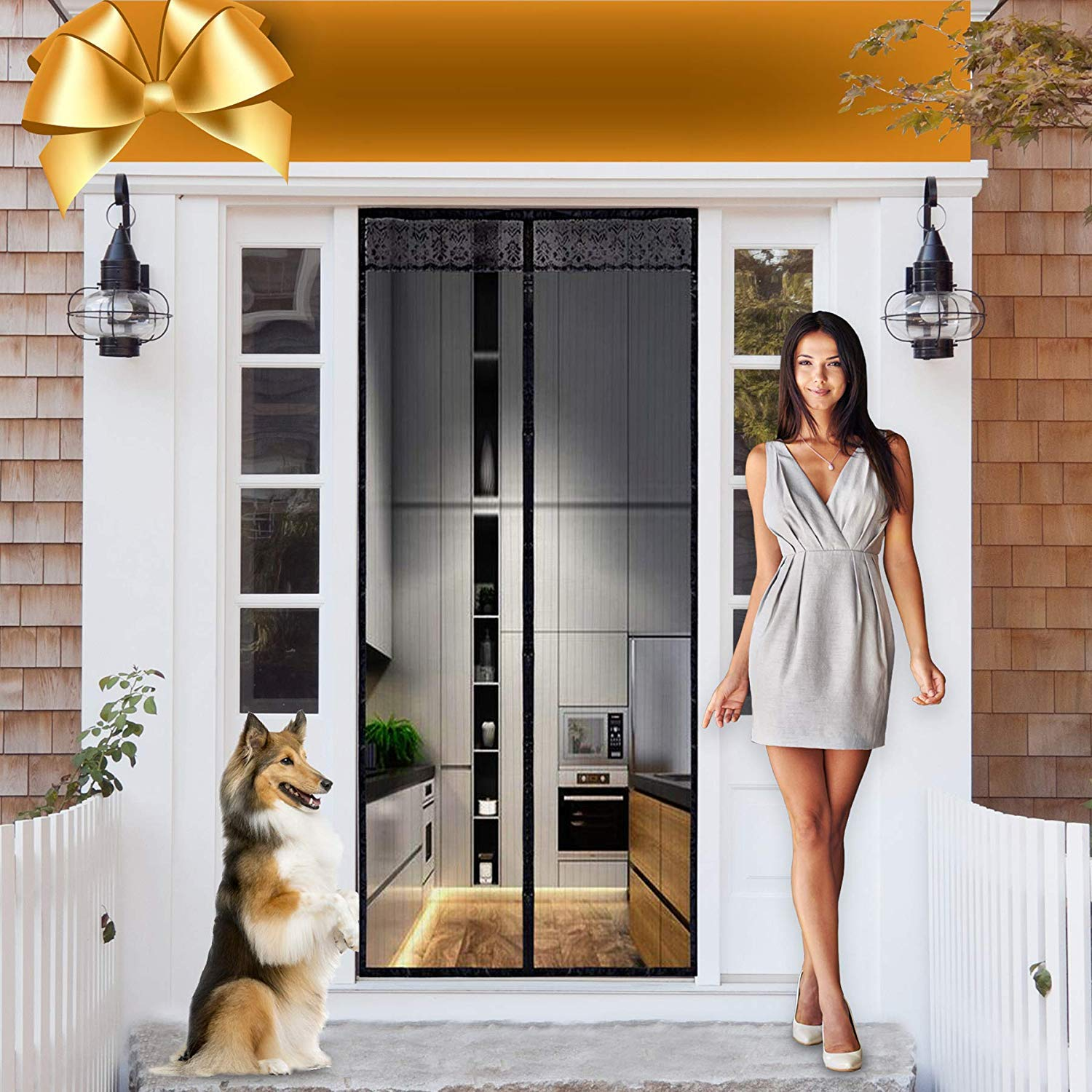Magnetic Screen Door Magnet Mesh I Premium Magic Curtain With