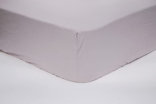 Sábana bajera ajustable PERCAL 100%algodón 135 cm. (Gris perla ...