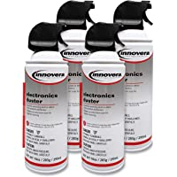 Innovera 10014 Compressed Air Duster Cleaner, 10 oz Can, 4/Pack