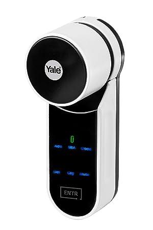 Yale ENTR Fingerabdruck Leseger/ät /& Motorisierter Zylinder ENTR Yale-Starter Kit ENTR+ Mobile App