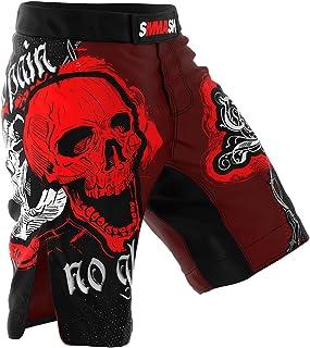 SMMASH MMA Shorts SKULL Red S M L XL XXL XXXL MMA BJJ UFC sport di combattimento