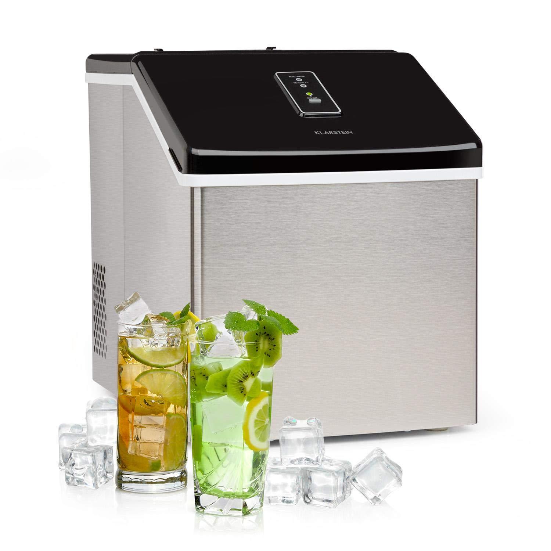 Klarstein Clearcube machine à glaçons • produit de la glace • capacité de production : 13kg/24h • réfrigérant: R600a • panneau de commande avec écran tactile • boîtier robuste en inox