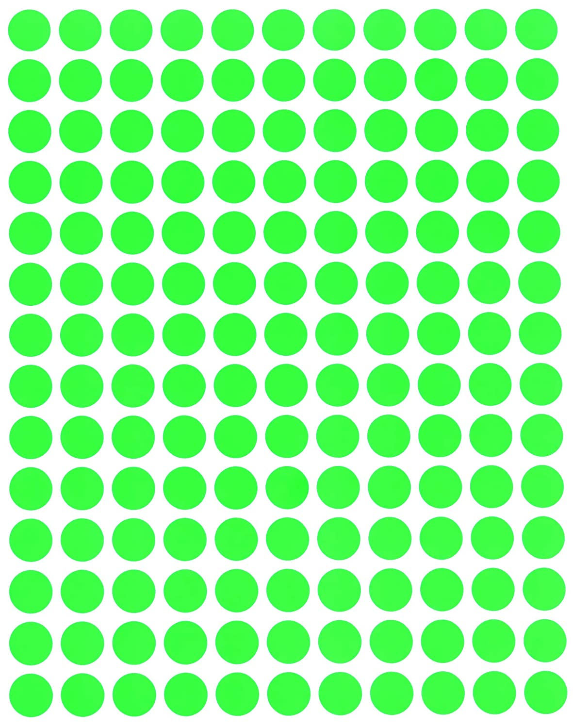 Dot Stickers 0.375 Inch Rounds Red Sticker Color Coding Labels 3//8 Round 10 Mm 2100 Pack by Royal Green