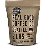 Real Good Coffee Co 2LB, Whole Bean Coffee, French Roast Dark, 2 Pound Bag