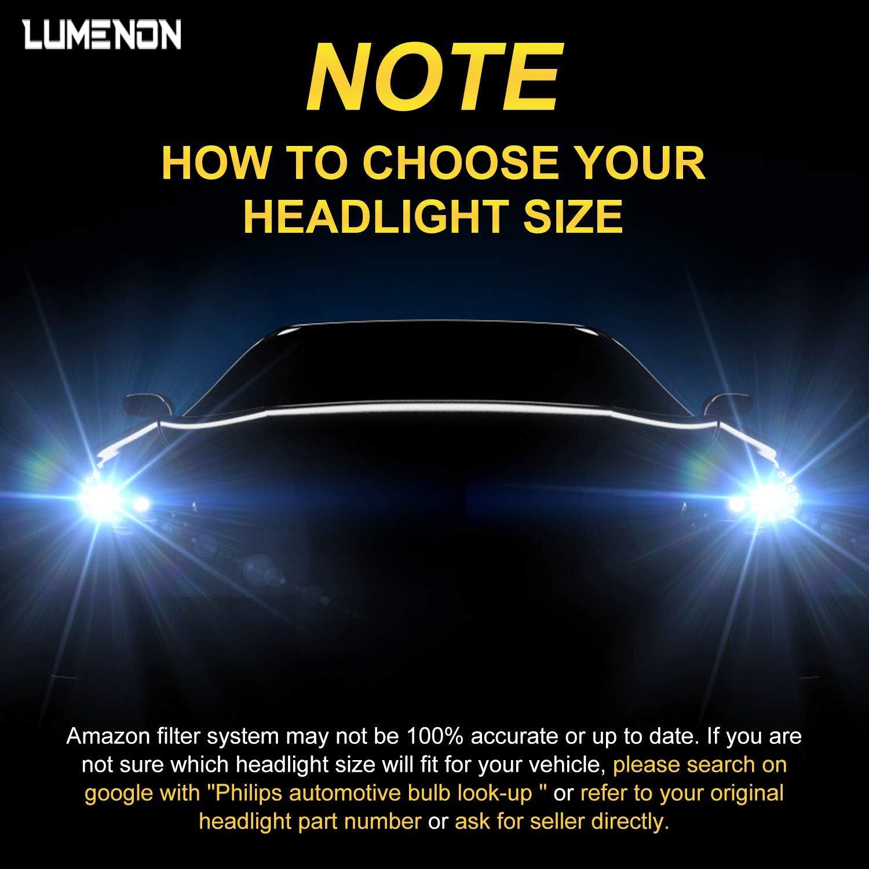 Lumenon 9006 HB4 LED Headlight Kit Flip COB Chips-90W 18000LM 6000K Xenon White Light