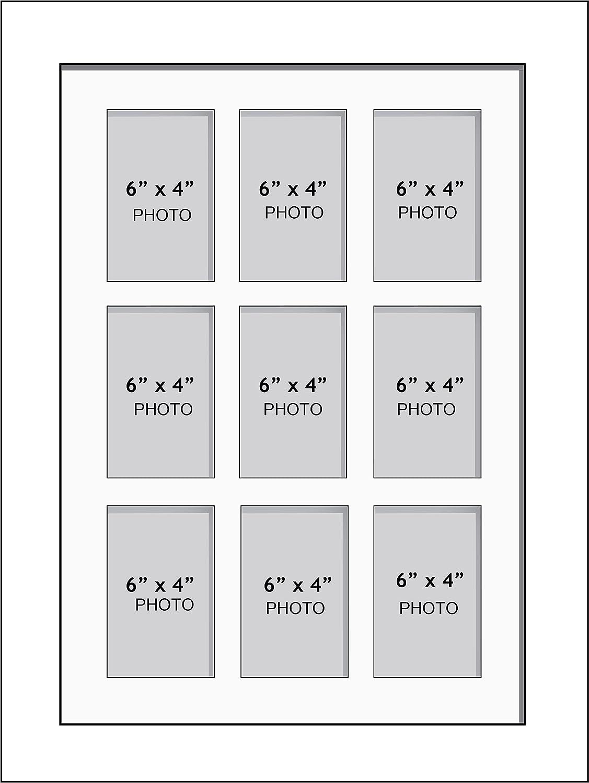 Amazon.de: Große Multi Bilderrahmen Blende Rahmen, Größe 15, 2 x 10 ...