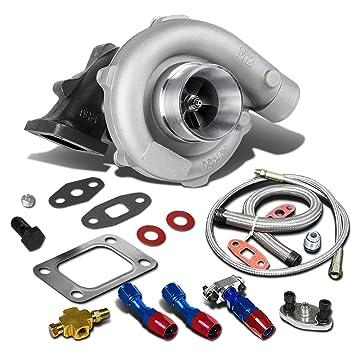 Amazon com: T04E T3/T4 4-Bolt Turbocharger+Oil Feed+Drain
