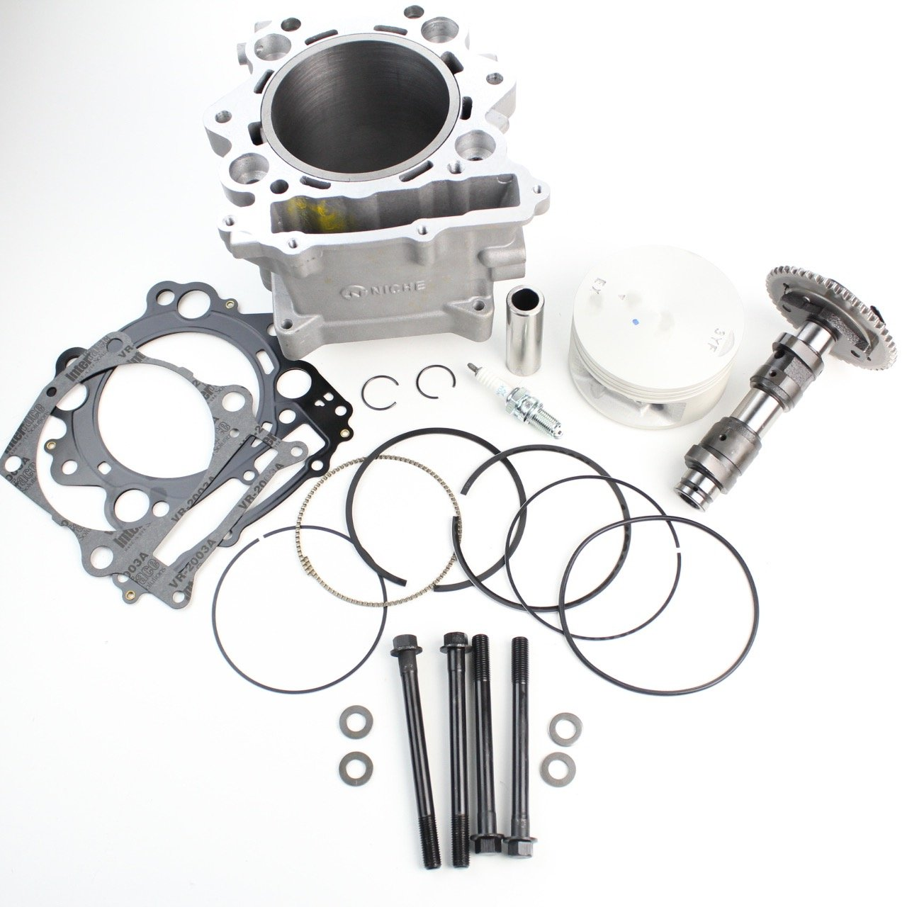 Niche Industries 1914 Yamaha Rhino 660 Cylinder Camshaft Piston Gasket Top End Kit 2004-2007