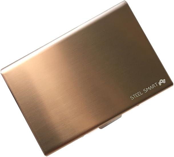 in Acciaio... Steel Smart Porta Carte di Credito con Tecnologia Anti RFID
