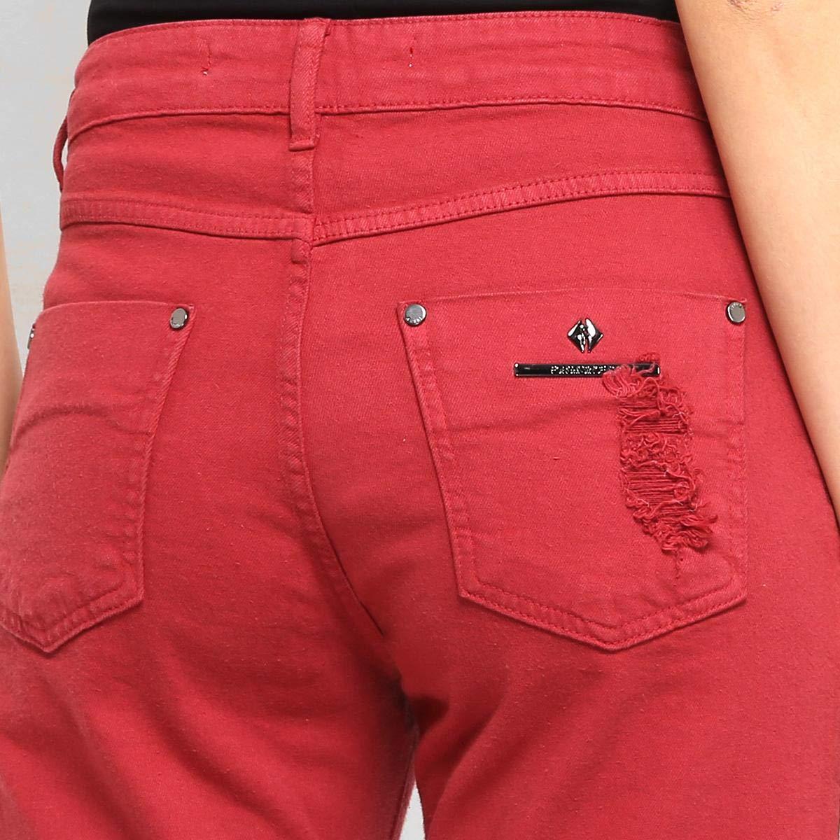 6b8f37153 Calça Sarja Forum Cropped Barra Desfiada Feminina - Vermelho - 44:  Amazon.com.br: Amazon Moda