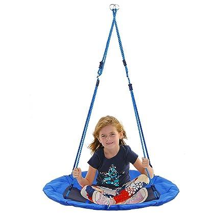 Amazon Com Amzdeal Tree Swing Flying Saucer Swing Set Nylon Rope