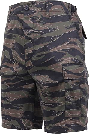 23dad973ca Tiger Stripe Camouflage Military BDU Combat Cargo Shorts Poly/Cotton ...