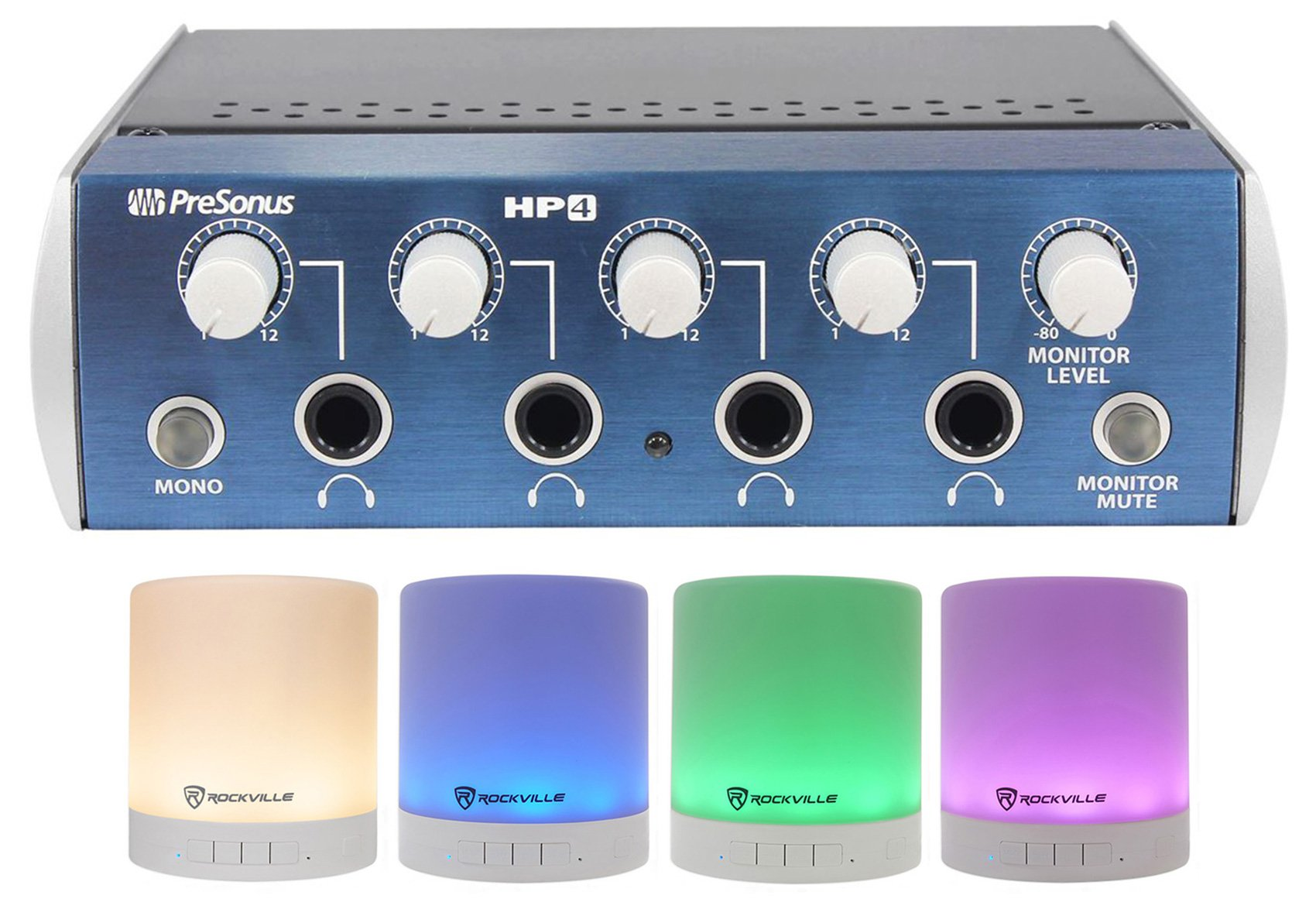 Presonus HP4 4 Channel Headphone Amplifier Monitoring System HP-4+Free Speaker ! by PreSonus